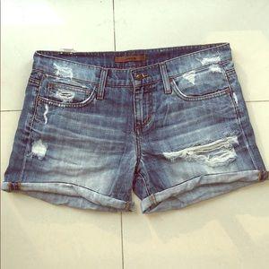 "Joe's Jeans sz 28 distressed 5.5"" inseam shorts"